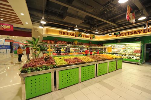 水果店水果摆放图片 国外超市水果摆放图 水果店货架摆放